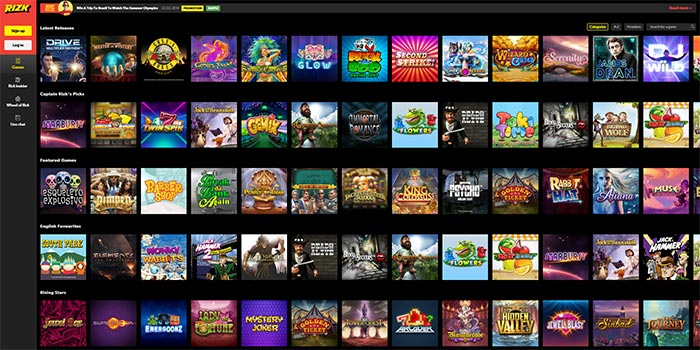 Rizk Casino Online Slots