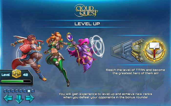 Results of the level up race on Cloud Quest