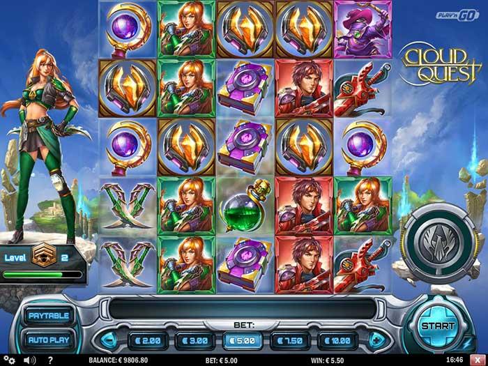 Cloud Quest Slot Base Game