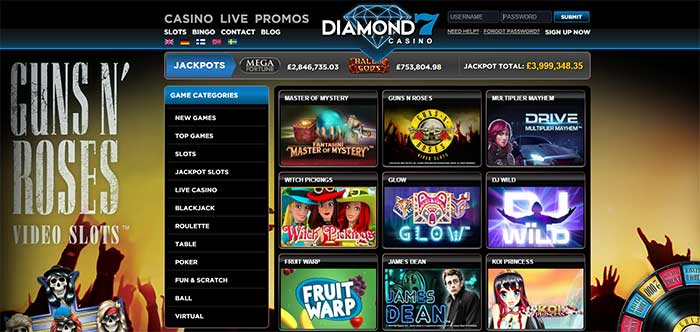 Diamond 7 Casino 200% Bonus