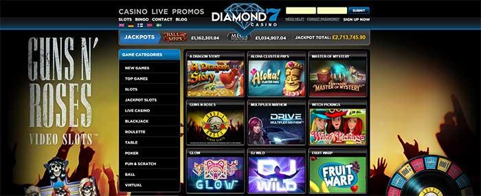 Diamond 7 Casino New Slots