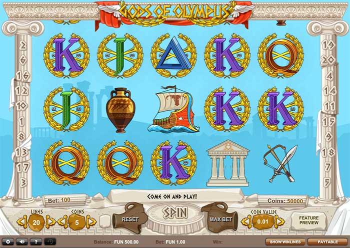 Gods of Olympus Slot - 1x2 Gaming