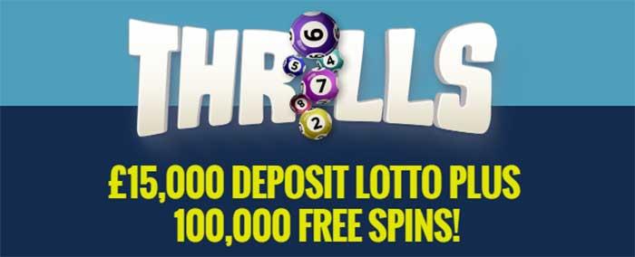 Thrills Casino Deposit Lottery