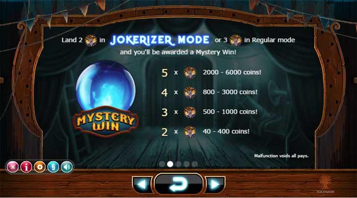 Wicked Circus Slot - Yggdrasil