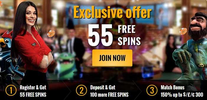 55 Free Spins No Deposit Required Starburst