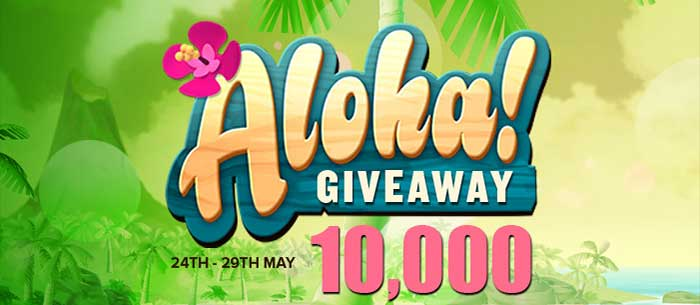 Aloha Cluster Pays Free Spins Raffle