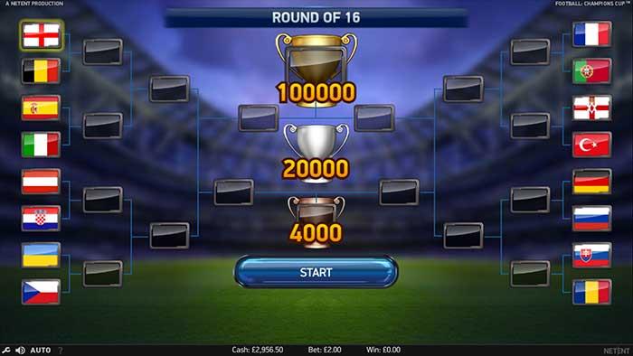 Football Champions Cup Slot - NetEnt