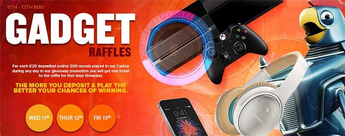 Nextcasino gadget raffles