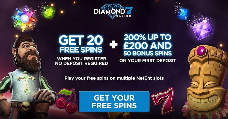 Diamond 7 Casino 20 Free Spins No Deposit