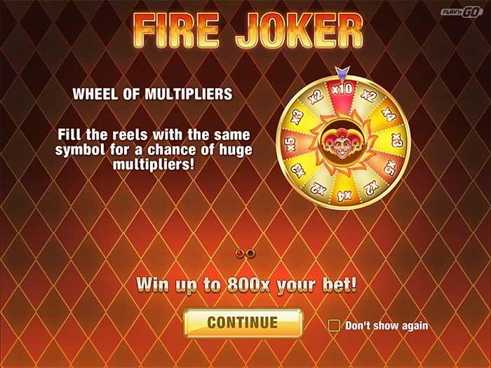 Fire Joker Slot PlaynGO