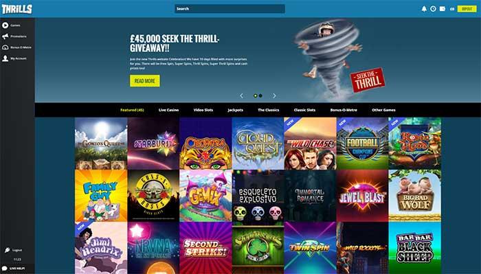 New Thrills Casino 2016