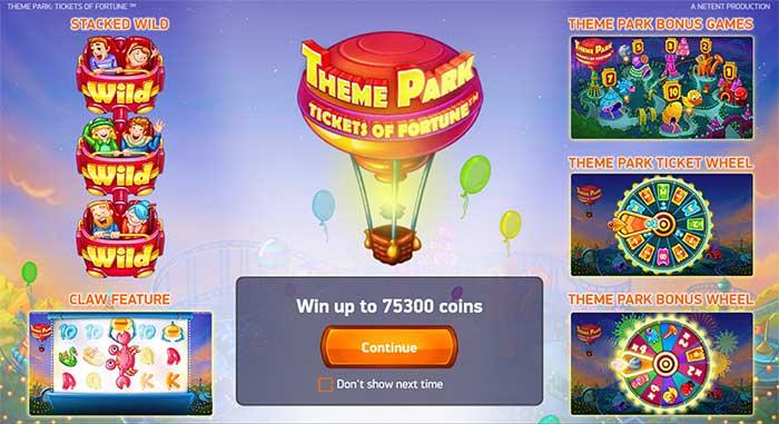 Theme Park Slot - NetEnt