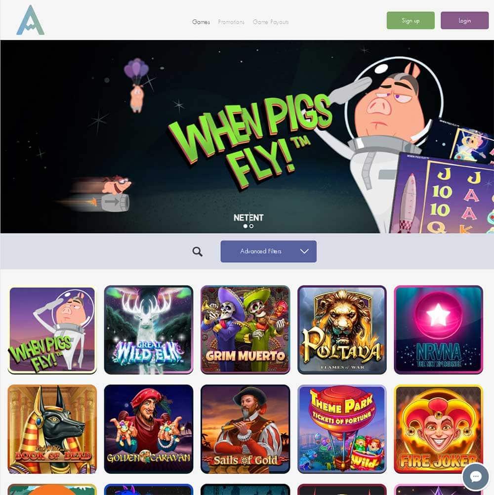 Chance Hill Casino Homepage