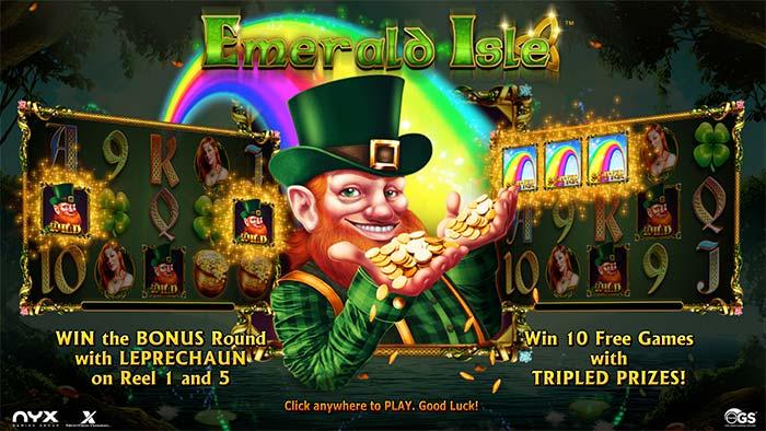 Emerald Isle Slot loading screen