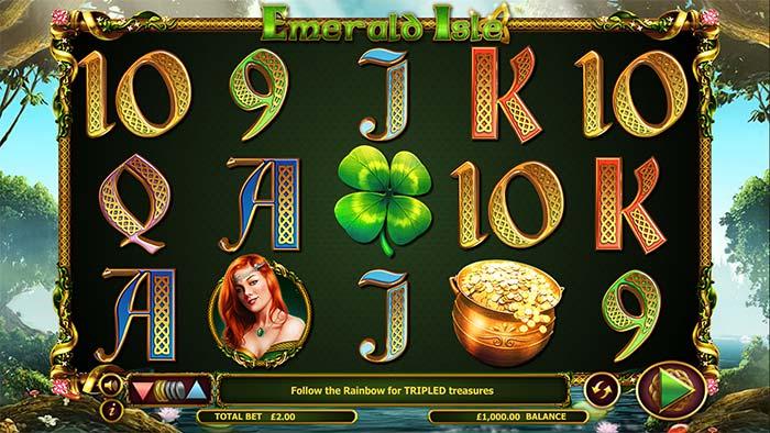 Emerald Isle Slot base game