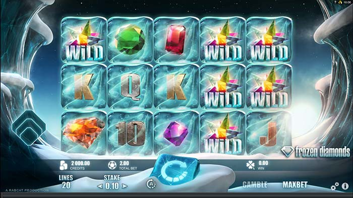 Frozen Diamonds slot - Rabcat
