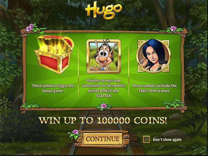 Hugo Slot bonus features