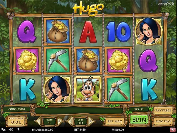 Hugo Slot base game