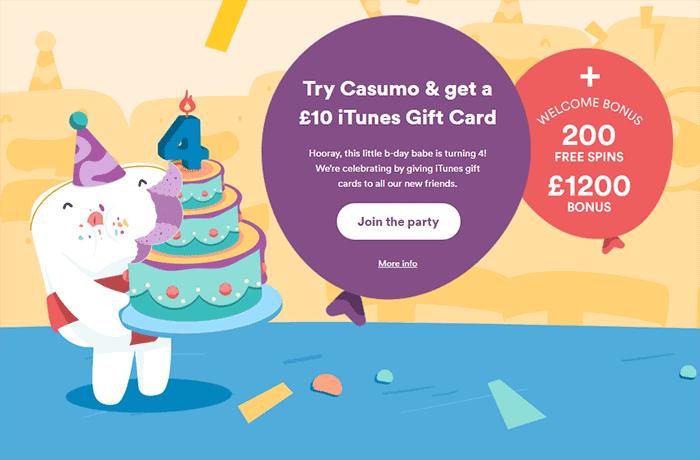 £10 iTunes Gift Card - Casumo