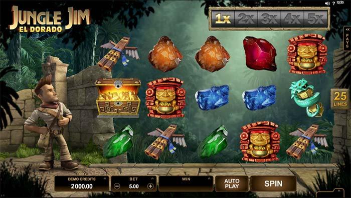 Jungle Jim Slot base game