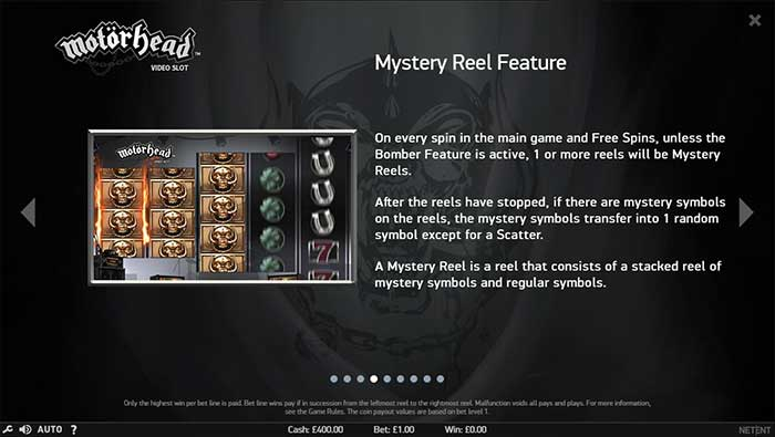 Motorhead Slot mystery feature
