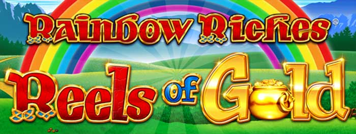 Rainbow Riches Reels of Gold slot logo