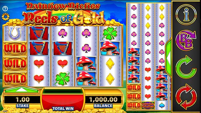 Rainbow Riches - Reels of Gold slot base game