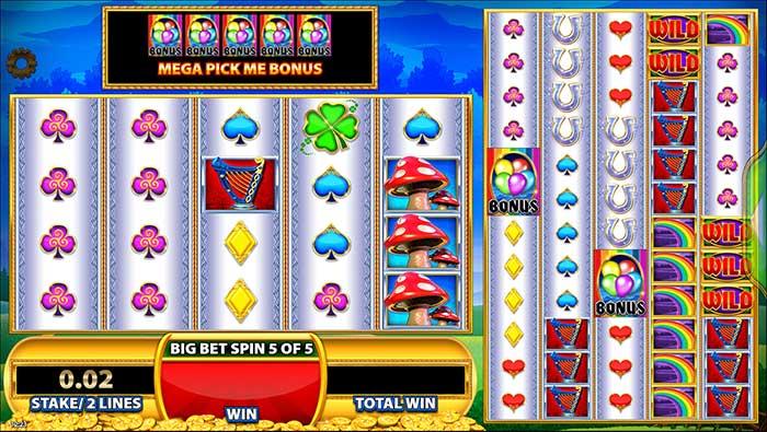 Rainbow Riches - Reels of Gold slot bonus trigger