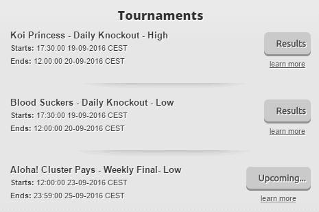 Slotty Tournaments List