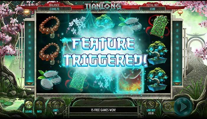 Tianlong Slot Bonus Trigger