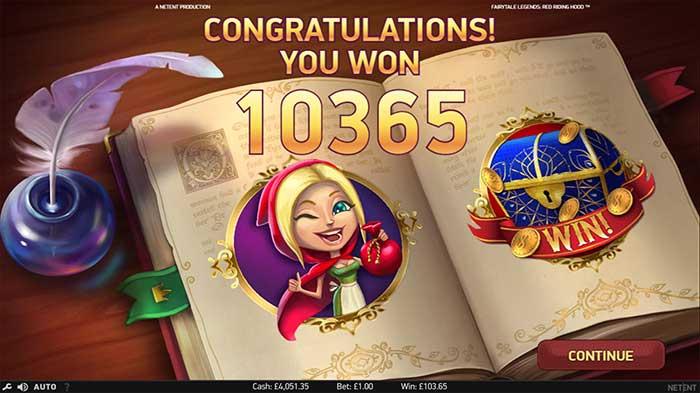 Fairytale Legends - Red Riding Hood Slot bonus round