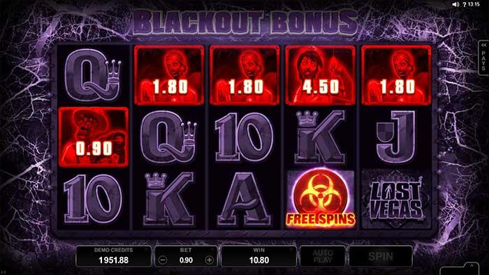 Lost Vegas Slot Blackout Bonus
