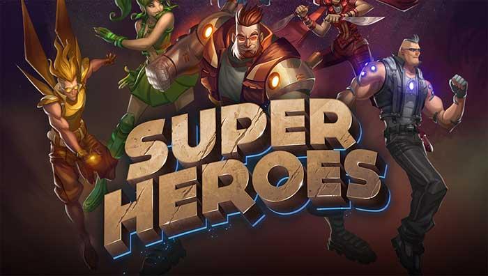 Super Heroes Slot Logo