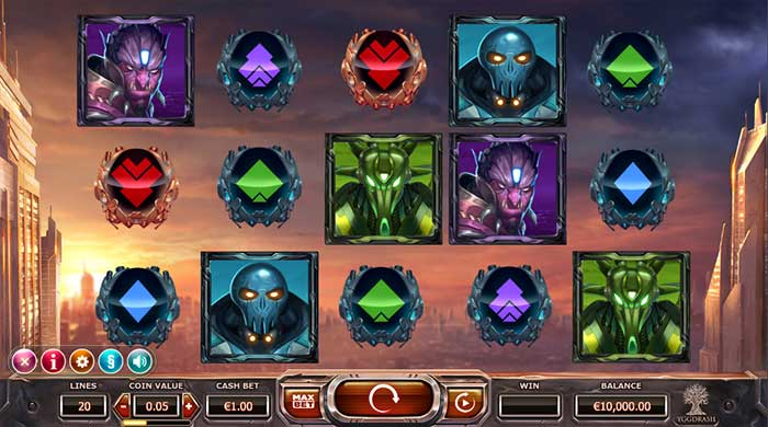 Super Heroes Slot base game