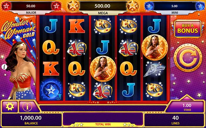 Wonder Woman Gold Slot Base Game