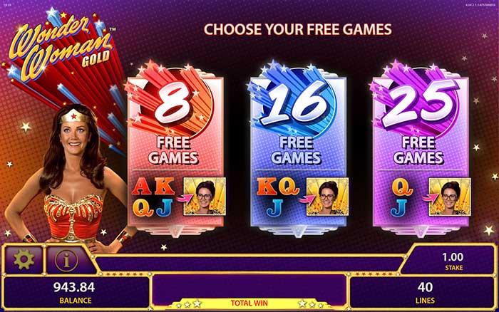 Wonder Woman Gold Slot Free Spins Options