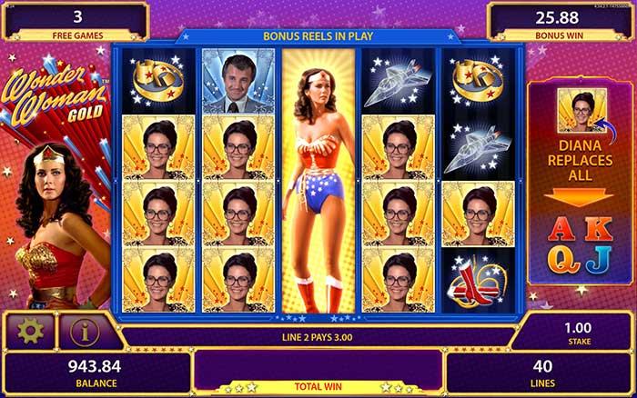 Wonder Woman Gold Slot Free Spins