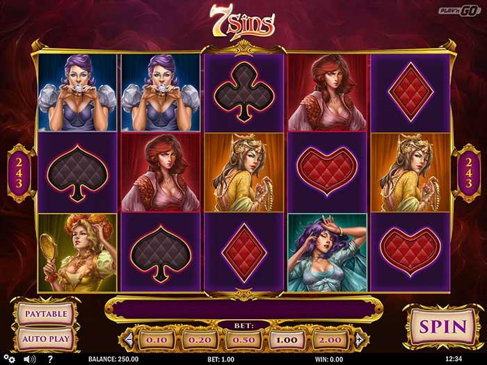 7 Sins Slot base game