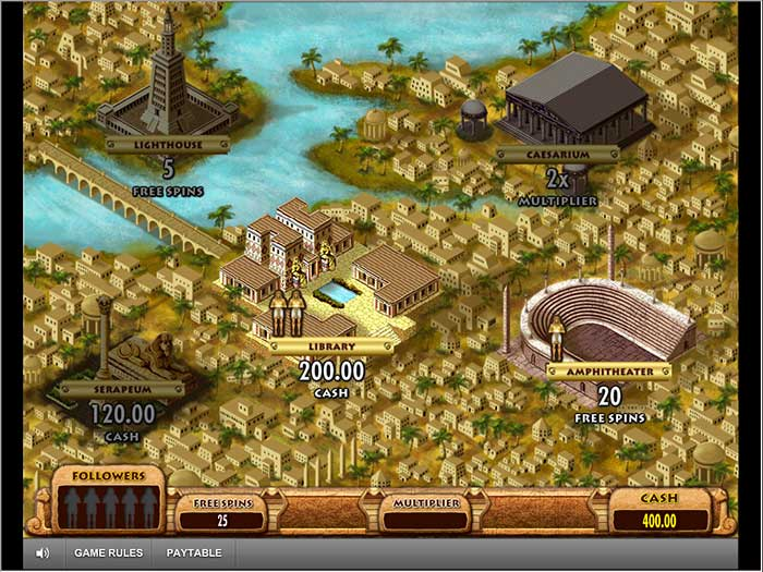 Cleopatra Plus Slot bonus map