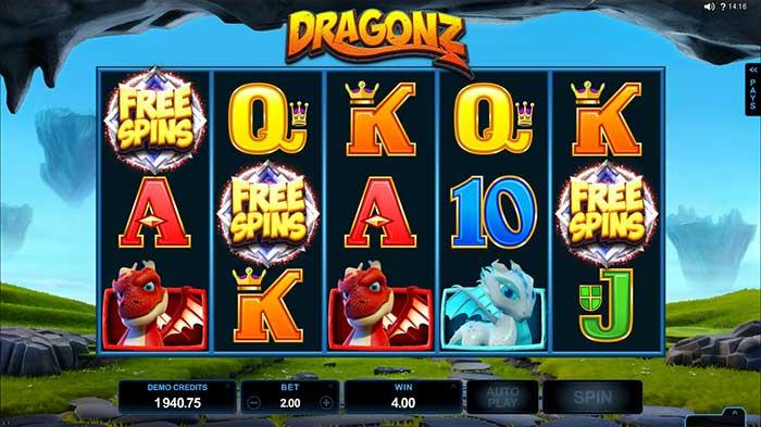 Dragonz Slot base game play