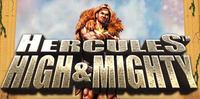 Hercules HIgh and Mighty Slot Logo