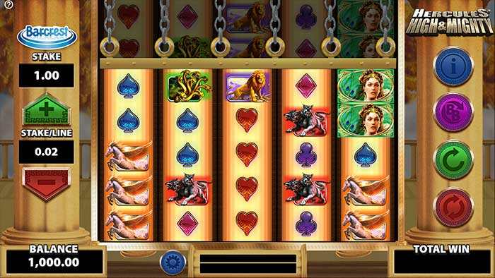 Hercules High and Mighty Slot base game