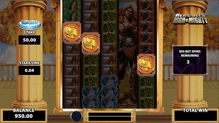 Hercules High and Mighty Slot free spins