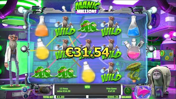 Manic Millions Slot big win