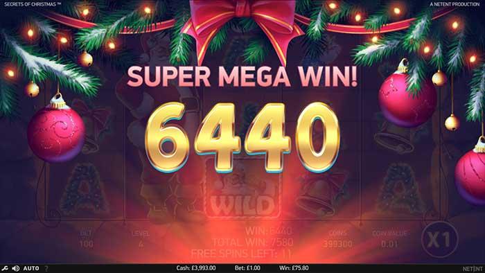 Secrets of Christmas Slot - Super Mega Win