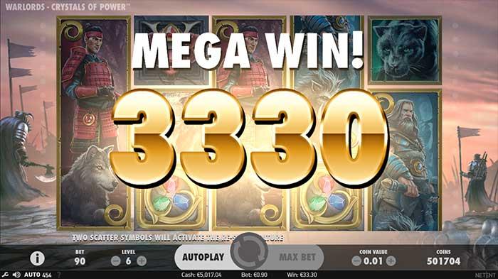 Warlords - Crystals of Power Slot mega win