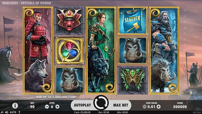 Warlords - Crystals of Power Slot base game