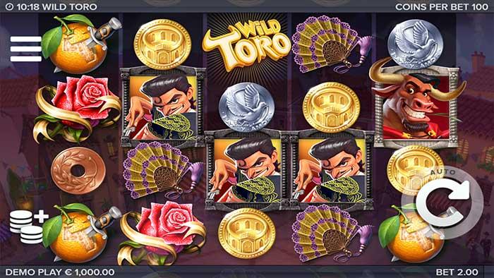 Wild Toro Slot base gameplay