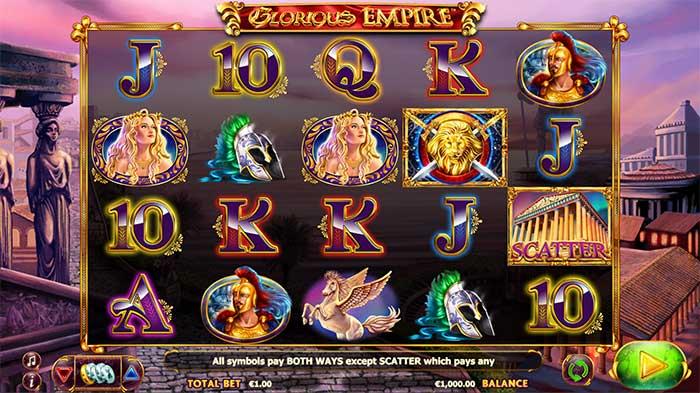 Glorious Empire Slot base game