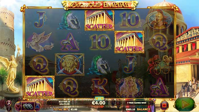Glorious Empire Slot bonus trigger